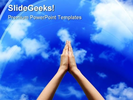 Join Hands For Peace Abstract PowerPoint Templates And PowerPoint Backgrounds 0811
