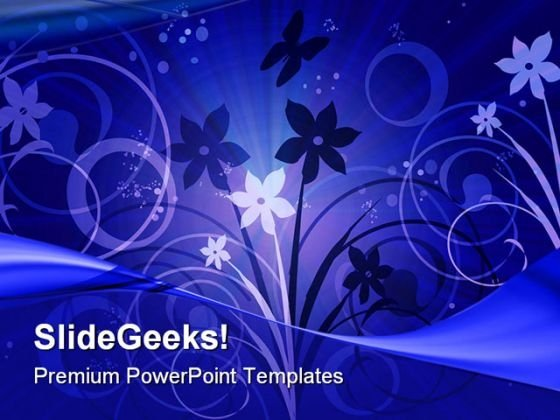 Joyfull Flowers Abstract PowerPoint Themes And PowerPoint Slides 0511