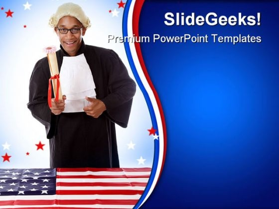 Judge Law Americana PowerPoint Backgrounds And Templates 0111