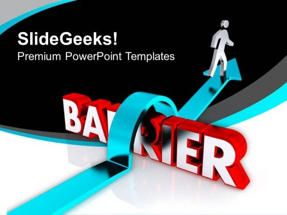 Jump Barrier For Business Growth PowerPoint Templates Ppt Backgrounds For Slides 0813