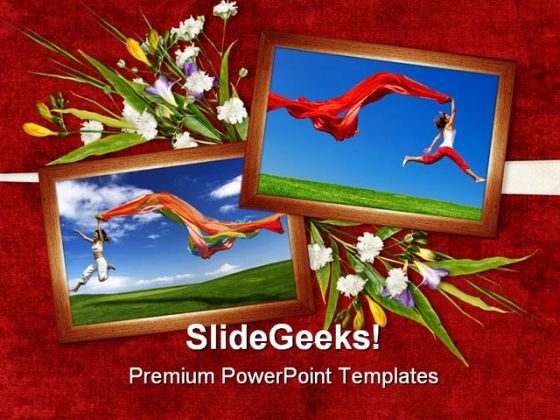 Jump Of Joy Entertainment PowerPoint Themes And PowerPoint Slides 0311
