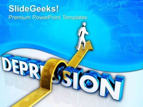 jump the depression and lead a happy life powerpoint templates ppt