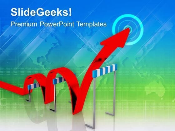 Jump The Hurdle Of Business PowerPoint Templates Ppt Backgrounds For Slides 0513