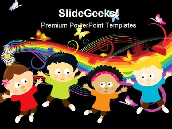 Jumping Kids Global PowerPoint Templates And PowerPoint Backgrounds 0311
