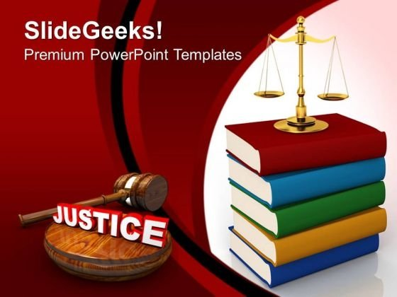 Justice Concept Law PowerPoint Templates And PowerPoint Themes 0712