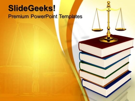 Justice Concept Law PowerPoint Templates And PowerPoint Themes 0812