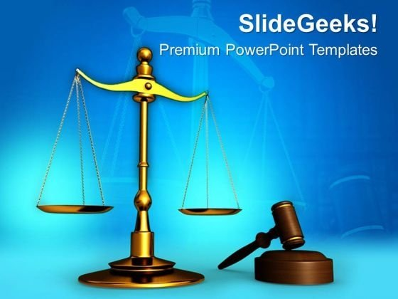 Justice Is Served Law PowerPoint Templates And PowerPoint Themes 0612
