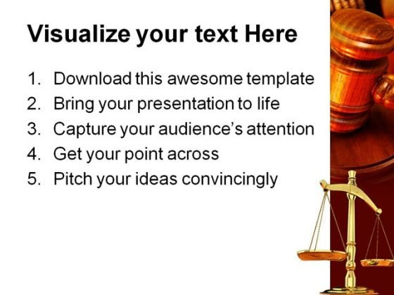 Justice Law Powerpoint Template 0610 Powerpoint Themes