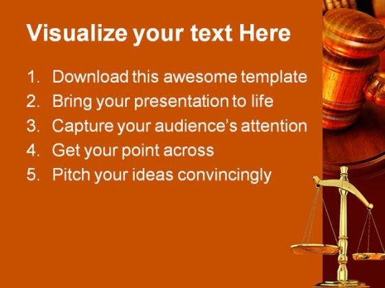 Justice Law PowerPoint Template 0610 - PowerPoint Themes