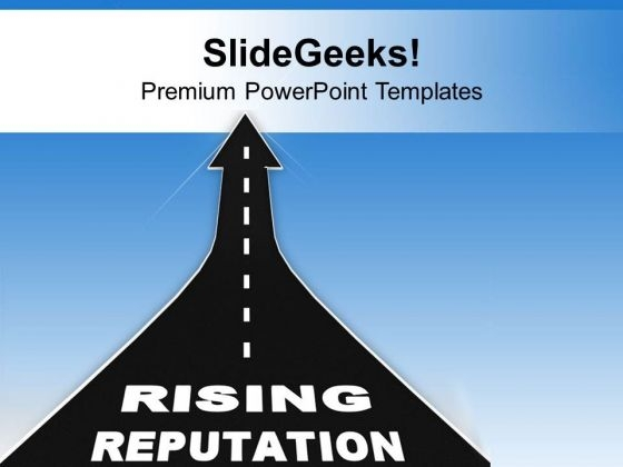 Keep Track On Rising Reputation PowerPoint Templates Ppt Backgrounds For Slides 0613
