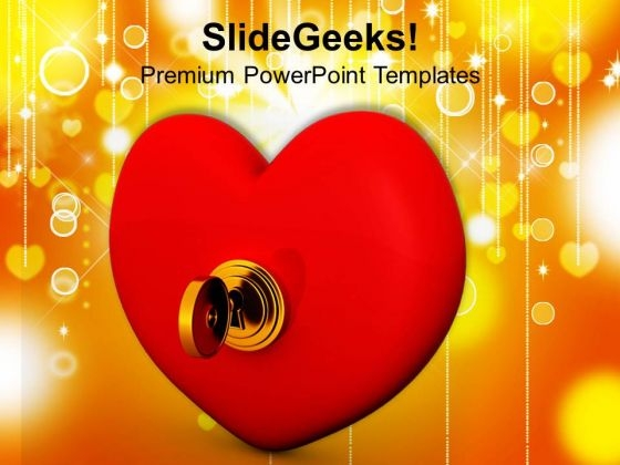 Key From Heart Valentines PowerPoint Templates Ppt Backgrounds For Slides 0213