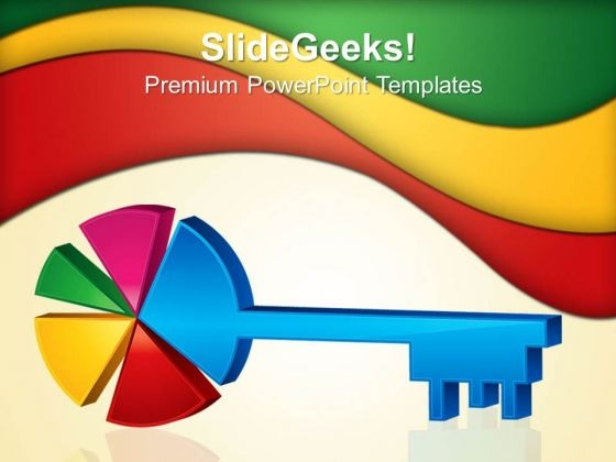 Key In Shape Pie Business PowerPoint Templates And PowerPoint Themes 0512