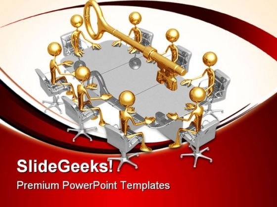 Key Meeting Business PowerPoint Templates And PowerPoint Backgrounds 0711