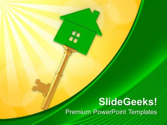 Key Of Home Real Estate PowerPoint Templates Ppt Backgrounds For Slides 0313