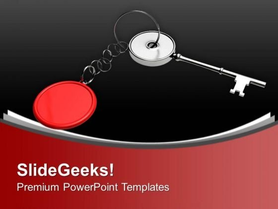 Key Ring With A Key Security PowerPoint Templates Ppt Backgrounds For Slides 0213