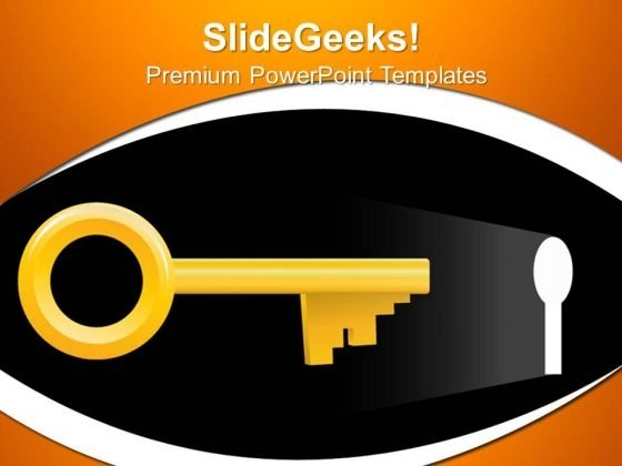 Key Solution Security PowerPoint Templates And PowerPoint Themes 0512