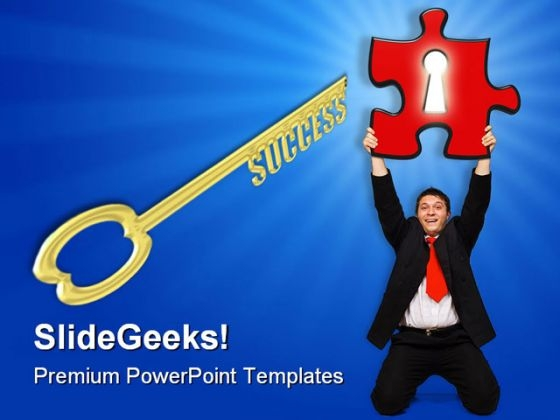 Key Solution Success PowerPoint Templates And PowerPoint Backgrounds 0411