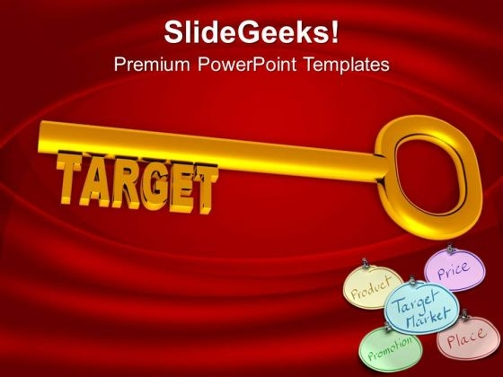 Key To Achieve The Target To Success PowerPoint Templates Ppt Backgrounds For Slides 0313