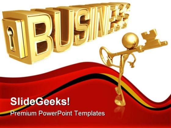 Key To Business PowerPoint Templates And PowerPoint Backgrounds 0711