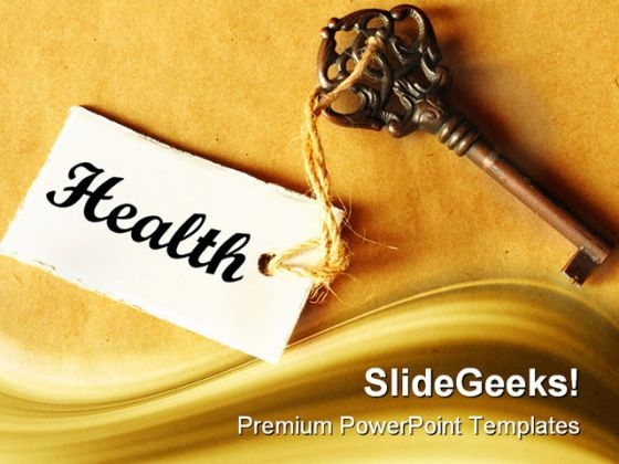 Key To Health Medical PowerPoint Templates And PowerPoint Backgrounds 0311