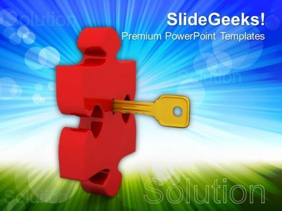 Key To Puzzle Security PowerPoint Templates And PowerPoint Themes 0612