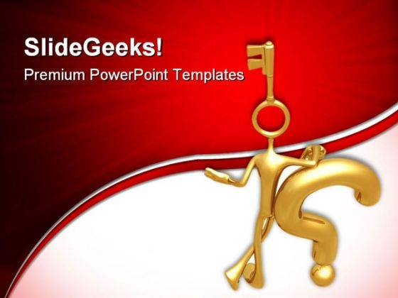 Key To Solution Business PowerPoint Templates And PowerPoint Backgrounds 0711