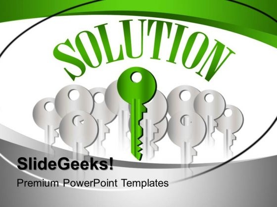 Key To Solution Business PowerPoint Templates And PowerPoint Themes 0412