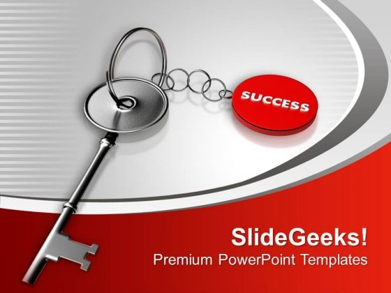 Key To Success Business Achievement PowerPoint Templates Ppt Backgrounds For Slides 0213