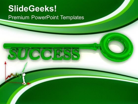 Key To Success Business Achievement PowerPoint Templates Ppt Backgrounds For Slides 1212