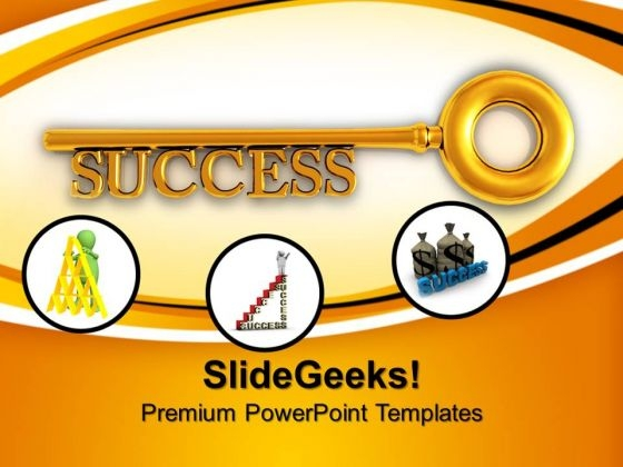 Key To Success Business PowerPoint Templates And PowerPoint Themes 0712