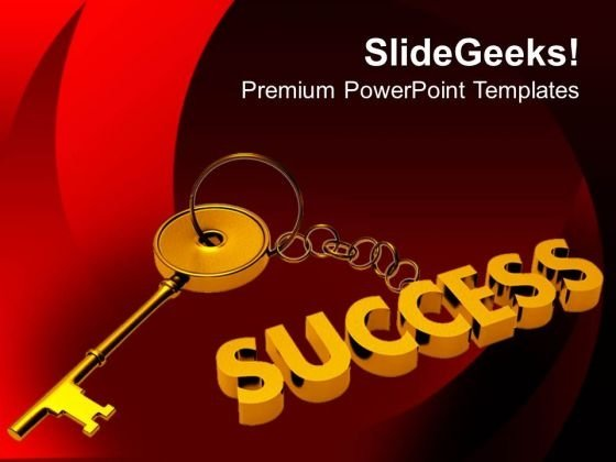 Key To Success Business PowerPoint Templates Ppt Backgrounds For Slides 0313
