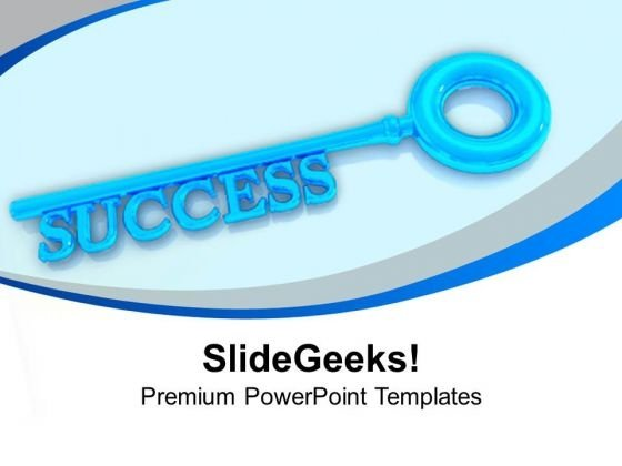 Key To Success Business PowerPoint Templates Ppt Backgrounds For Slides 1212
