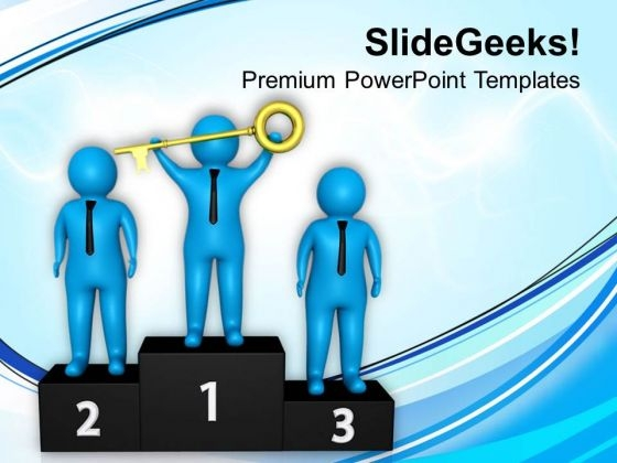 Key To Success Concept Illustration PowerPoint Templates Ppt Backgrounds For Slides 0713