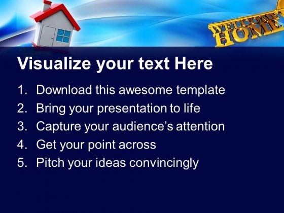key with welcome home real estate powerpoint templates and, Modern powerpoint