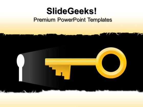Keyhole Security PowerPoint Templates And PowerPoint Themes 0512