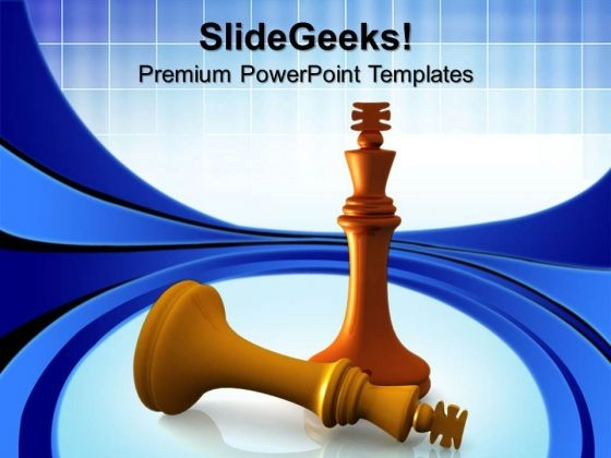 King Defeats King Chess Game PowerPoint Templates And PowerPoint Themes 0612