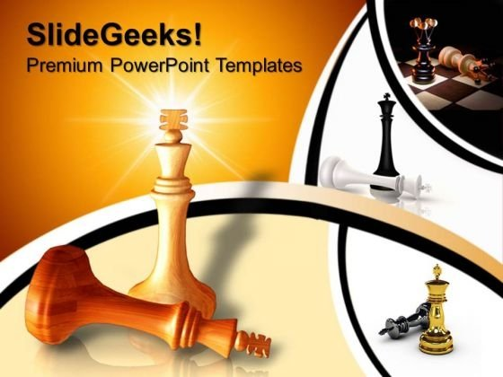 King Defeats King Chess Success PowerPoint Templates And PowerPoint Themes 0612