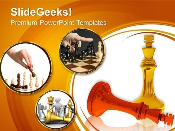 King Defeats King In Chess Competition PowerPoint Templates And PowerPoint Themes 0612