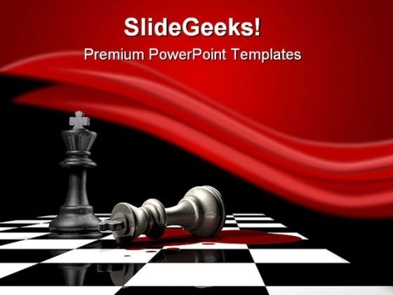 King Is Down Game PowerPoint Templates And PowerPoint Backgrounds 0211