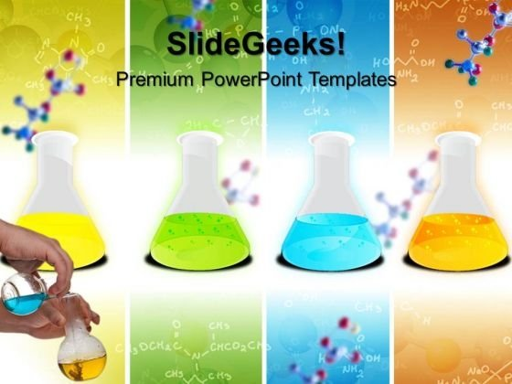 Laboratary Flasks Science PowerPoint Templates And PowerPoint Themes 0612
