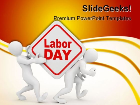 Labour Day Business PowerPoint Themes And PowerPoint Slides 0411