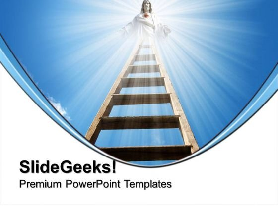 Ladder Of Opportunity Religion PowerPoint Templates And PowerPoint Themes 0712