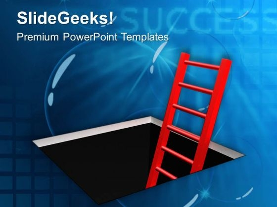 Ladder To Climb Out Business Concept PowerPoint Templates Ppt Backgrounds For Slides 0413