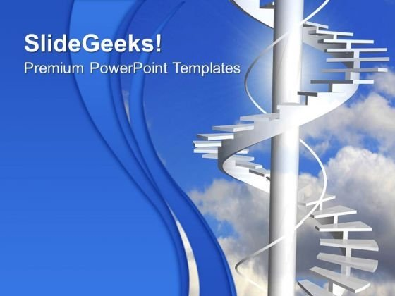 Ladder To Paradise Stairs PowerPoint Templates And PowerPoint Themes 0712