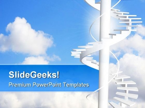 Ladder To Paradise Success PowerPoint Themes And PowerPoint Slides 0711
