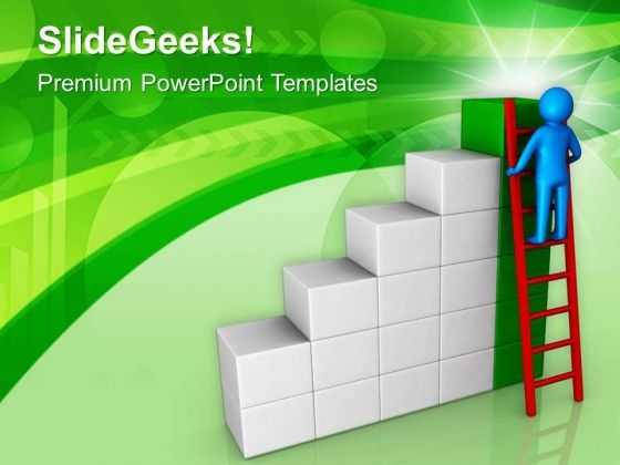 Ladder To Success In Business Opportunties PowerPoint Templates Ppt Backgrounds For Slides 0613