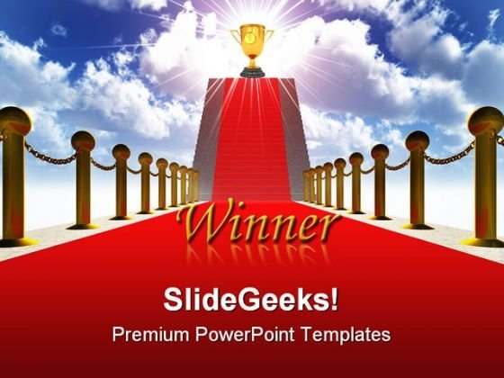 Ladder With A Red Carpet Success PowerPoint Templates And PowerPoint Backgrounds 0211