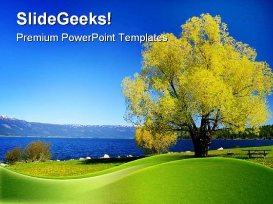 Lake Nature PowerPoint Template 1110