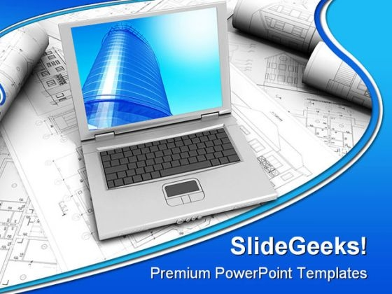 Laptop Computer PowerPoint Templates And PowerPoint Backgrounds 0311