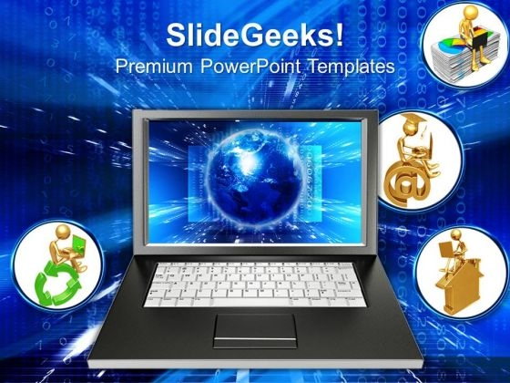 Laptop Internet PowerPoint Templates And PowerPoint Themes 0712